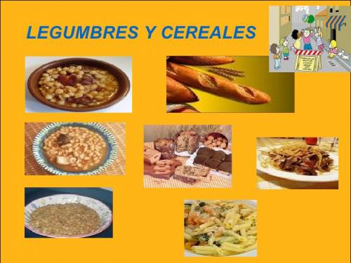 Cereales legumbres y frutos secos